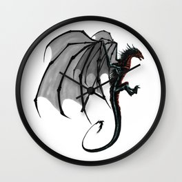 black and red Dragon Wall Clock
