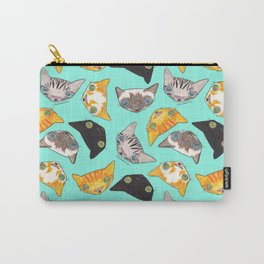 """""""Oro?"""" Cats-Turquoise Carry-All Pouch"""
