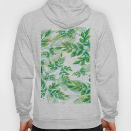 Leaves green pattern nature plant Hoody
