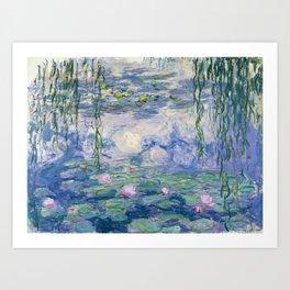 """Claude Monet """"Water Lilies(Nymphéas)"""" (9) 1916–19.jpg Art Print"""