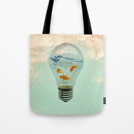 ideas and goldfish 02 Tote Bag