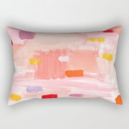 Put Sorrows In A Jar - abstract modern art minimal painting nursery Rectangular Pillow