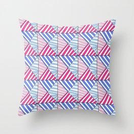 Symetric triangle 1 -vichy, gingham,strip,triangle,geometric, sober,tartan,mandala Throw Pillow