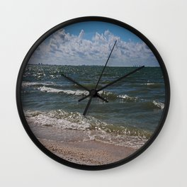 Sandcastle Kisses Wall Clock