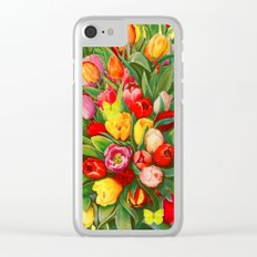 Tulip Bouquet Clear iPhone Case