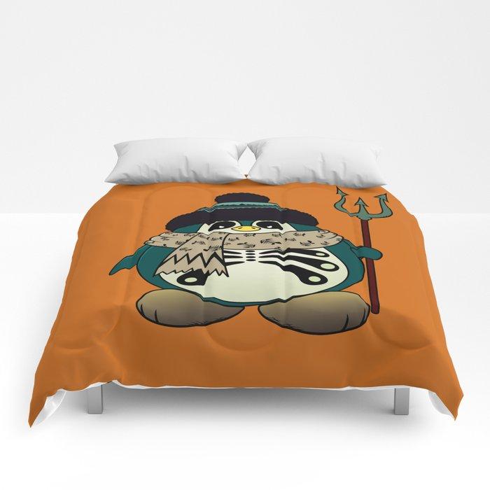 Harold The Penguin.Halloween character Comforters