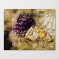 verse Canvas Prints featuring Truth - Verse by Anita Faye
