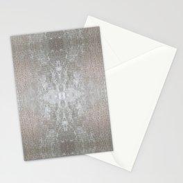 Silver Velvet Snake Pattern Stationery Cards