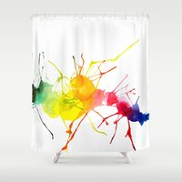 passion Shower Curtains featuring passion  by Shakkedbaram