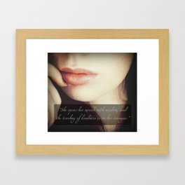 Teaching of Kindness Framed Art Print