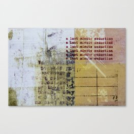 Last Minute Seduction Canvas Print
