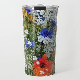Wildflowers in a summer meadow Travel Mug