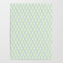 Gently green checkered pattern. Poster