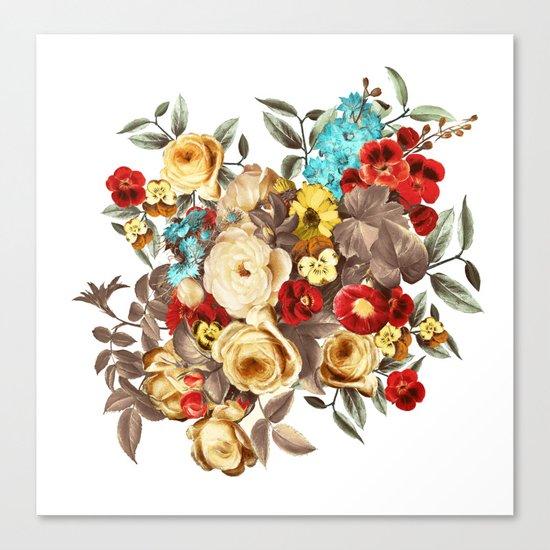 Watercolors Floral Pattern Canvas Print