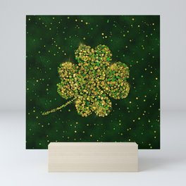 Irish Shamrock Four-leaf Lucky Clover Mini Art Print