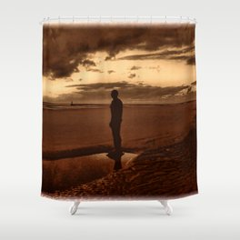 Another Place on Crosby Beach Shower Curtain