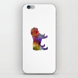 English Bulldog in watercolor iPhone Skin