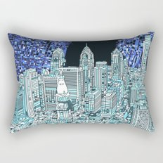 philadelphia city skyline Rectangular Pillow