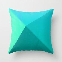 Pyramid - Aqua Throw Pillow