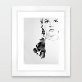 Judy Garland Minimal Drawing Framed Art Print