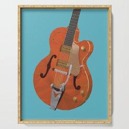 Gretsch Chet Atkins Guitar polygon art Serving Tray