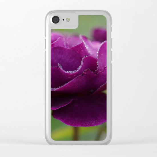 purple flower Clear iPhone Case