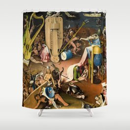 The Garden of Earthly Delights - Bosch - Hell Bird Man Detail Shower Curtain