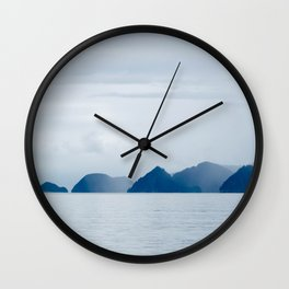 Mountains in the Mist Wall Clock