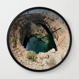 Bimmah Sink hole (Hawaiyat Najm) in Dibba Al Bay Ah, Oman Wall Clock
