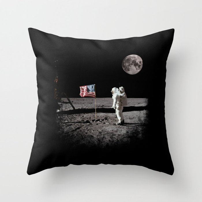 The Great Conspiracy: The Moon Is a Lie Throw Pillow
