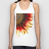 sunflower Tank Tops featuring Sunflower by Wood-n-Images