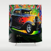 ford Shower Curtains featuring 32 Ford by JT Digital Art