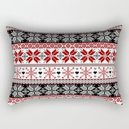 Winter Fair Isle Pattern Rectangular Pillow