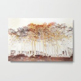 Abstract Monterey Cypress In Infrared with Tint Overlay Metal Print