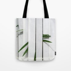Green behind Tote Bag