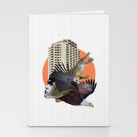 cage Stationery Cards featuring Cage home by Lerson