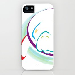 Rainbow Manatee iPhone Case