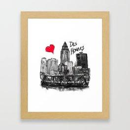 I love Des Moines Framed Art Print