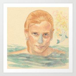 The fish girl Art Print