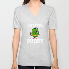 Perfect tee for energy drink lovers out there! Stay active and energized with your cute study buddy! Unisex V-Neck
