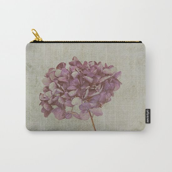 Vintage Hydrangea Carry-All Pouch