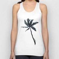 coconut wishes Tank Tops featuring Coconut Palms by Art by Risa Oram