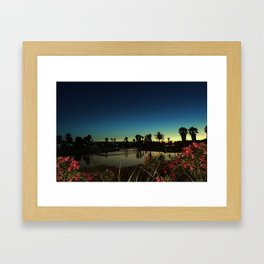 Sunset near the lake Framed Art Print