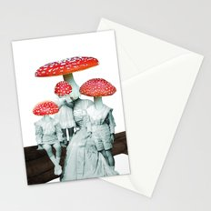 amanita muscaria with children Stationery Cards