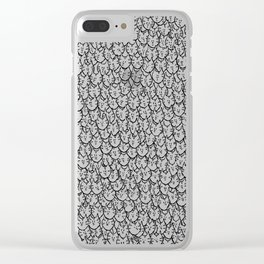 Cat Pattern Clear iPhone Case