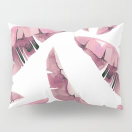 Banana Leaves 2 Pink Pillow Sham