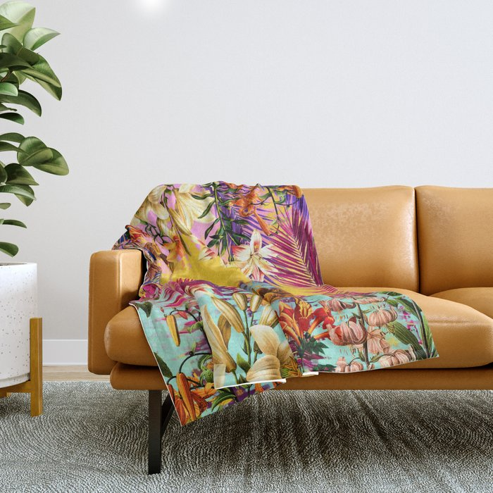 Tropical Time Throw Blanket