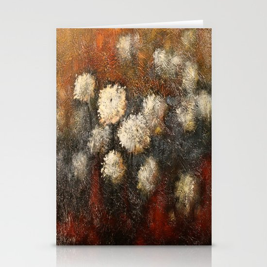 Golden Blossoms Stationery Cards