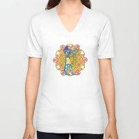 sacred geometry V-neck T-shirts featuring Sacred Geometry Thoth Mandala by Jam.