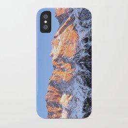 zugspitze mountain panorama II, germany. iPhone Case